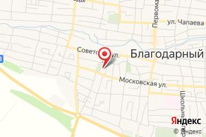 Адрес ГРО Ставропольского края, АО Благодарненскрайгаз на карте