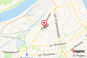 Адрес Газпром межрегионгаз Нижний Новгород, Балахнинское отделение отдела режимов газоснабжения на карте