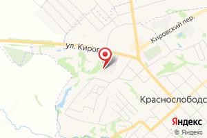 Адрес Газпром газораспределение Саранск, филиал в г. Краснослободске на карте