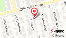 Гостиница На Юной на карте