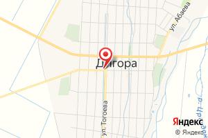 Адрес Газпром газораспределение Владикавказ, газовый участок в Дигорском районе на карте