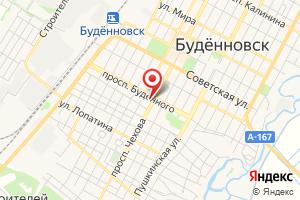 Адрес ГУП СК Ставрополькрайводоканал филиал Восточный, Производственно-техническое подразделение Будённовское на карте