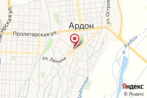 Адрес Газпром газораспределение Владикавказ, филиал в г. Ардоне на карте