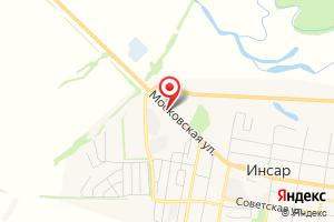 Адрес Газпром газораспределение Саранск, Инсарская газовая служба филиала в г. Ковылкино на карте