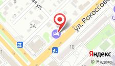 Гостиница Мартон Рокоссовского на карте