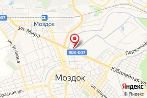 Адрес Газпром межрегионгаз Владикавказ, территориальный участок в Моздокском районе на карте