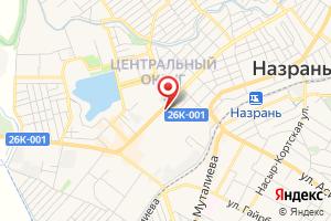 Адрес Газпром газораспределение Назрань, районный эксплуатационный участок Назрановского района на карте