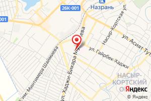 Адрес Газпром межрегионгаз Назрань на карте