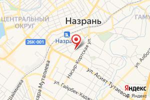 Адрес Газпром межрегионгаз, филиал в Ингушетии, Абонентский отдел Назрановского р-на на карте