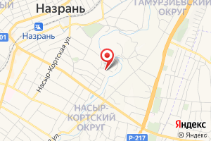 Адрес Газпром межрегионгаз Назрань, Абонентский отдел Назрановского района на карте