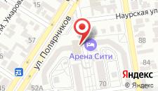 Гостиница Арена City на карте