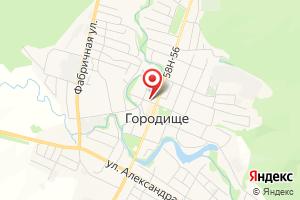 Адрес Газпром межрегионгаз Пенза, Никольское отделение по работе с населением, Городищенский участок на карте