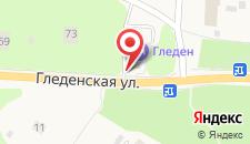 Отель Гледен на карте