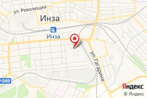 Адрес Газпром межрегионгаз Ульяновск, Абонентский пункт г. Инза на карте