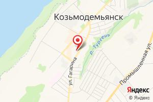 Адрес Газпром газораспределение Йошкар-Ола, филиал в г. Козьмодемьянске, центр обслуживания населения на карте