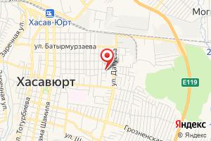 Адрес Управление Жилищно-коммунального Хозяйства Администрации МО Хасавюртовский район на карте