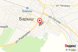 Адрес Газпром газораспределение Ульяновск, филиал в г. Барыш, Барышский эксплуатационный газовый участок на карте