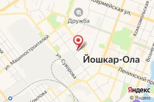Адрес Газпром газораспределение города Йошкар-Ола на карте