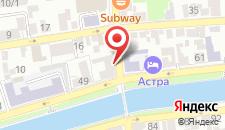 Отель Астра на карте