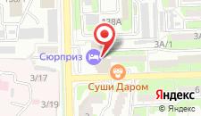 Гостиница Сюрприз на Космонавтов на карте