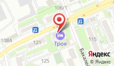Мини-отель Троя на карте