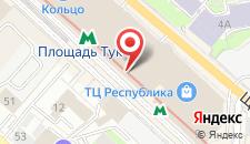 Отель Казань на карте