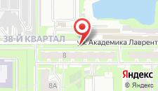Гостевой дом На Академика Лаврентьева 8 на карте