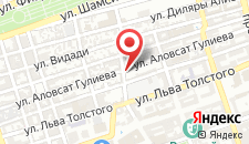 Отель Баку на карте