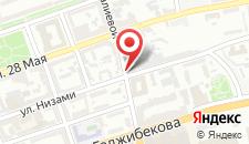 Апартаменты На улице Низами 81 на карте