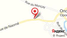 Отель B&B Le Renard Dormant на карте