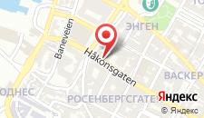 Отель Scandic Bergen City на карте