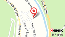 Апартаменты Gite des Evêts на карте