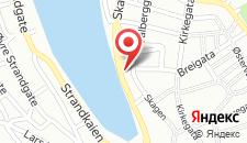 Отель Clarion Collection Hotel Skagen Brygge на карте