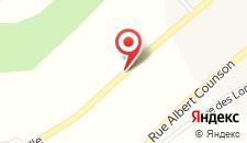 Шале Les Muguets на карте