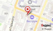 Гостиница Веструм на карте