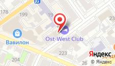 Гостиница Ost-West Club на карте