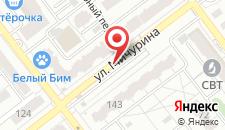 Отель Герань на карте