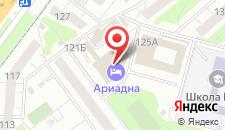 Гостиница Ариадна на карте