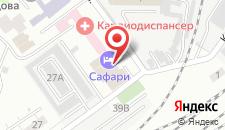Гостиница Сафари на карте