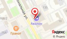 Гостиница Авалон на карте