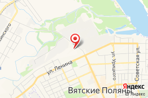 Адрес Газпром газораспределение Киров, филиал в г. Вятские Поляны на карте