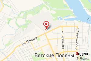 Адрес Газпром межрегионгаз Киров, территориальный участок г. Вятские Поляны на карте