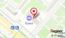 Отель Кама на карте