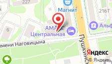 Гостиница Амакс Центральная на карте