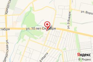Адрес Газпром межрегионгаз Ижевск на карте