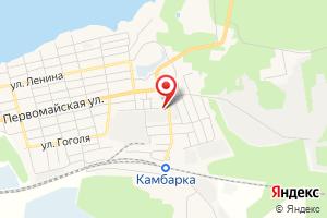 Адрес Газпром газораспределение Ижевск, филиал в г. Сарапуле, Газовый участок в г. Камбарка на карте