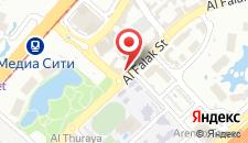 Отель Radisson Blu Hotel, Dubai Media City на карте