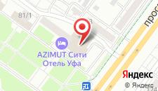 Отель АЗИМУТ Отель Уфа на карте