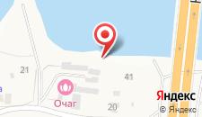 База отдыха Взморье на карте