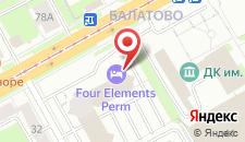 Гостиница Four Elements Perm на карте